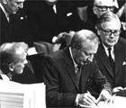 Firma del Tratado de Adhesión del Reino Unido a la CEE 1973