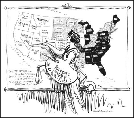 Sufragio femenino: 2 zonas blancas más en el mapa...